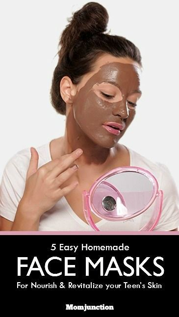 Face Mask For Teens: Here are 5 simple homemade face masks for teenage skin that are ready in minutes, and promise to naturally nourish and revitalize your teen's skin. #SkinCare
