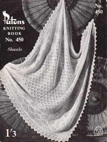 Knitted Shetland baby shawl
