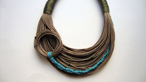 Unique natural necklace Spring Summer by superlittlecute on Etsy