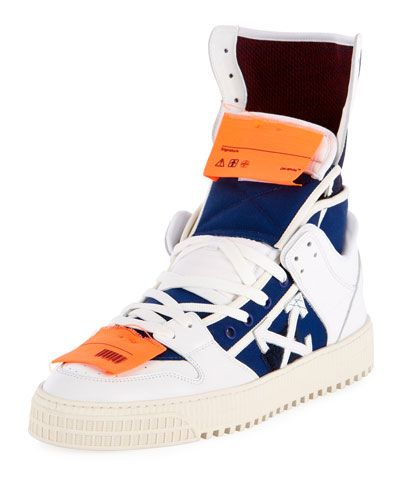 OFF-WHITE HIGH 3.0 LEATHER HIGH-TOP SNEAKER. #off-white #
