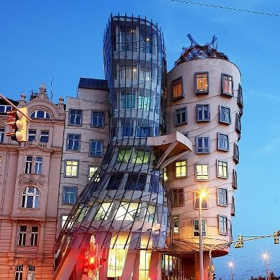 Frank Gehrys Dancing House, Prague by Dino Quinzan (Tks Marianne)