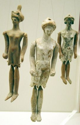 Ancient Greek terracotta puppet dolls, 4th century BC, National Archaeological Museum, Athens.