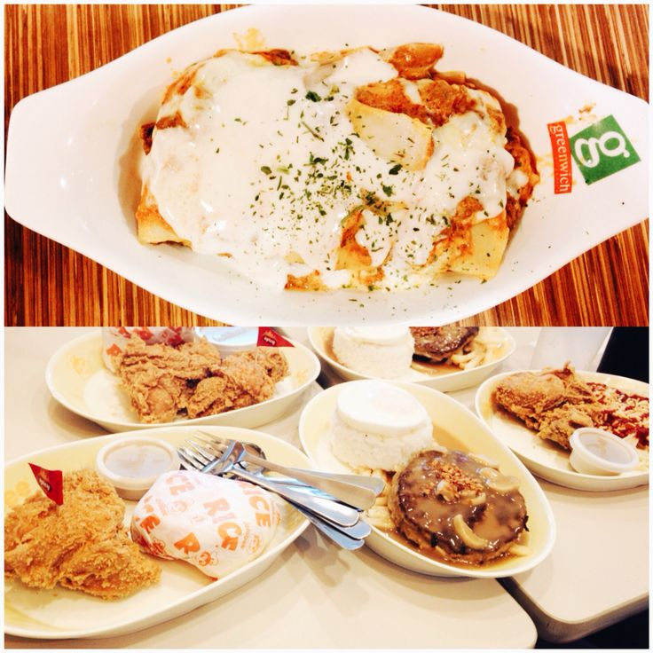 Lasagna greenwich and jollibee #philippines #food #yum #ultimateburgersteak