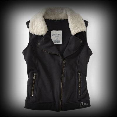 Aeropostal レディース ベスト エアロポステール Aero Varsity Button Up Hoodie Vest ベスト-アバクロ 通販 ショップ-【I.T.SHOP】 #ITShop