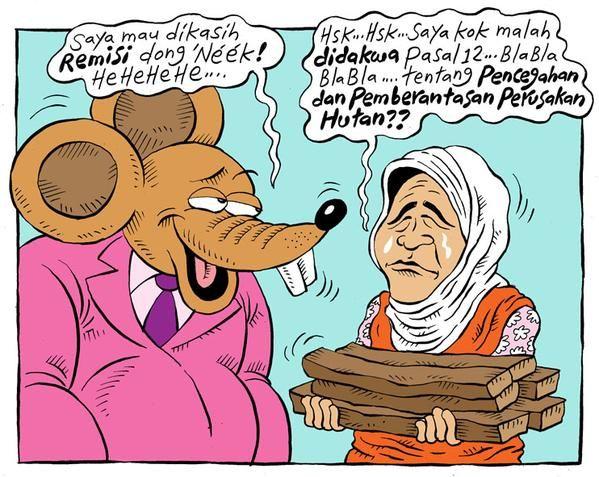 Mice Cartoon, Rakyat Merdeka - Maret 2015: Nenek Asyani