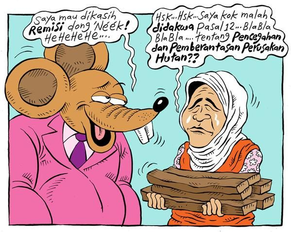 Mice Cartoon, Rakyat Merdeka - Maret 2015: Nenek Asyani