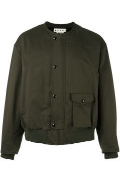 Marni Collarless Bomber Jacket