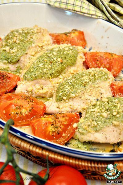 Куриные грудки, фаршированные соусом песто + соус песто ингредиенты