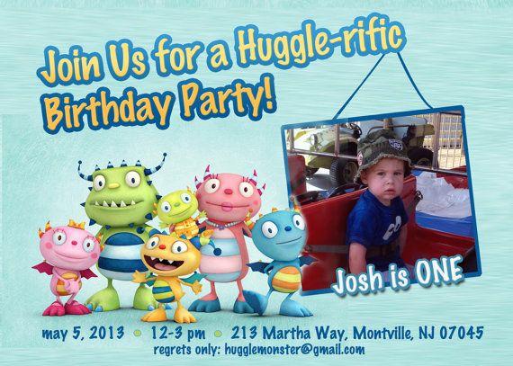 Henry Hugglemonster birthday invitations Henry by CMLDesigns, $18.00