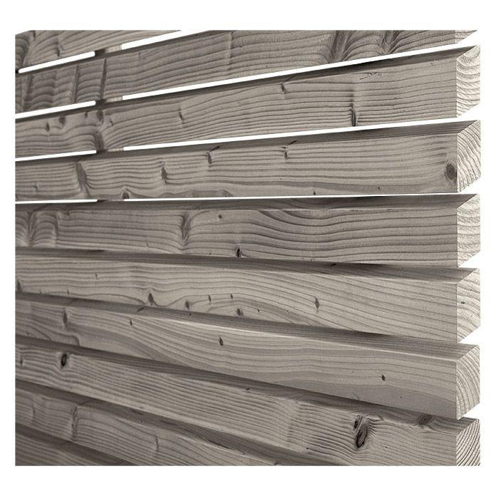Rettenmeier Fassadenprofil Raute   – Vorgarten Mauer