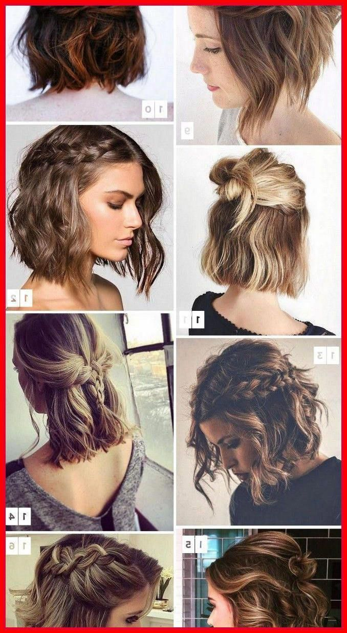 Wedding Hairstyles for Short Hair Updos #shortcurlyhair  Short
