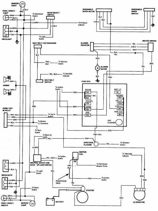 gmc truck electrical wiring  wiring diagrams page oil