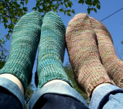 Never Not Knitting Beginner Socks Uses Worsted Weight For