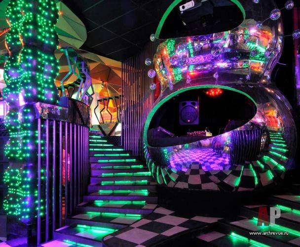 A crazy looking night club..