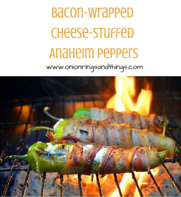 Bacon-Wrapped Cheese-Stuffed Peppers are filled with cream cheese, wrapped in bacon and then grilled until golden and crisp