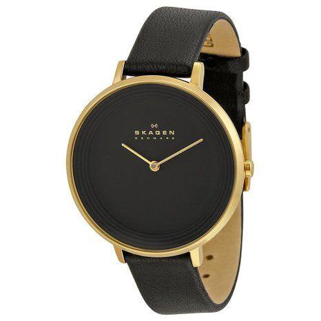 Skagen Damen-Armbanduhr Analog Quarz Leder SKW2286