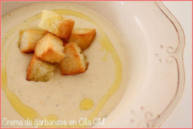 Crema de garbanzos, receta, olla gm, cocina con marta, comprar olla gm, fácil, rápido, olla eléctrica