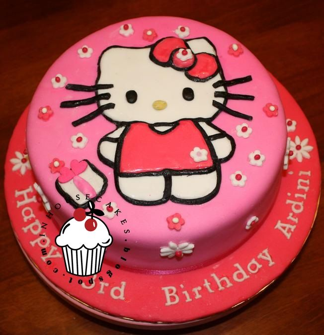 Torta en pastillaje con figura 2D: Hello Kitty Cakes, Birthday Kids Cakes, Cakes Tortas, Cakes Cupcakes Pop Ideas, Cakes Inspiration, Cakescupcakespop Ideas, Cakes Decor, Fondant Cakes, Birthday Cakes