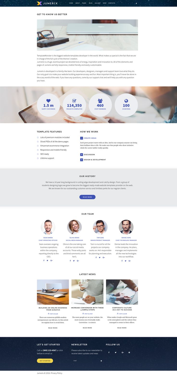 About page of Jumerix - New Joomla Template: http://www.templatemonster.com/jumerix-multipurpose-joomla-template-60060.html