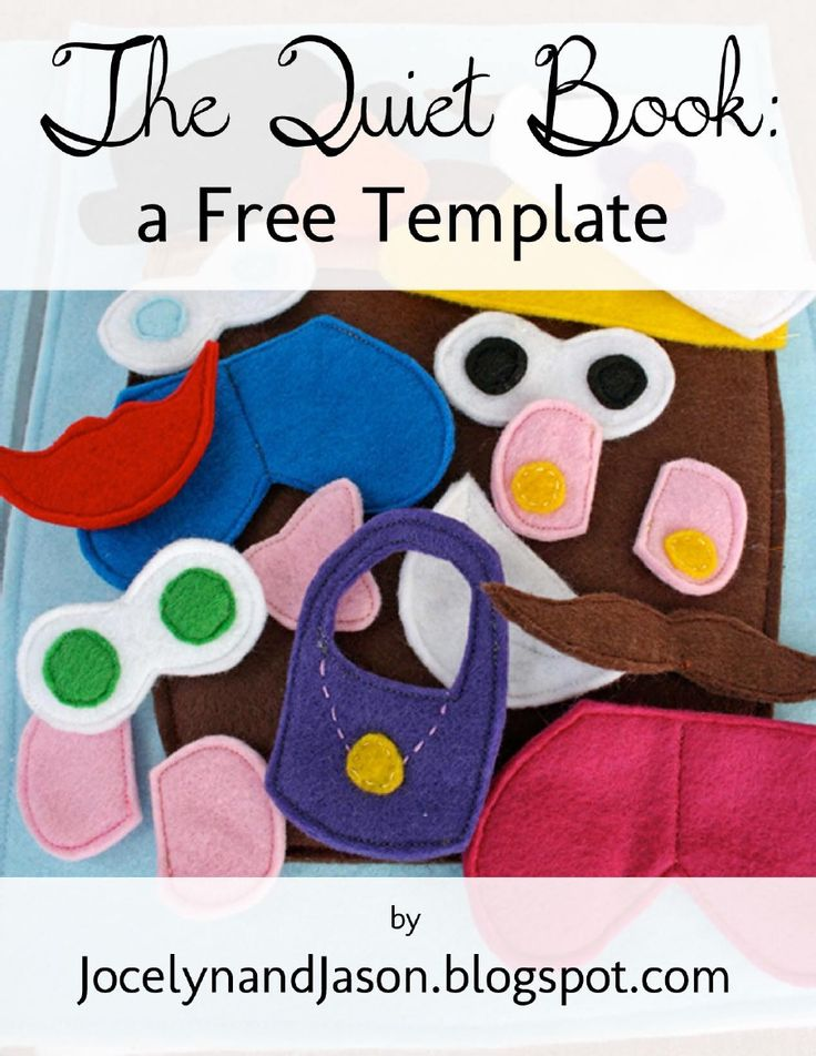 Free Quiet Book Template