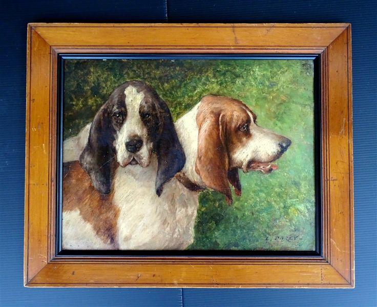 Louis Darey (1863-1914) Portrait De Beagle Et Gascon Saintongeois, ARTE TRES GALLERY, Proantic