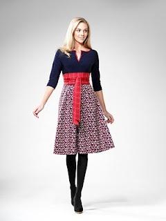 Nautical chic Leona Edmiston dress
