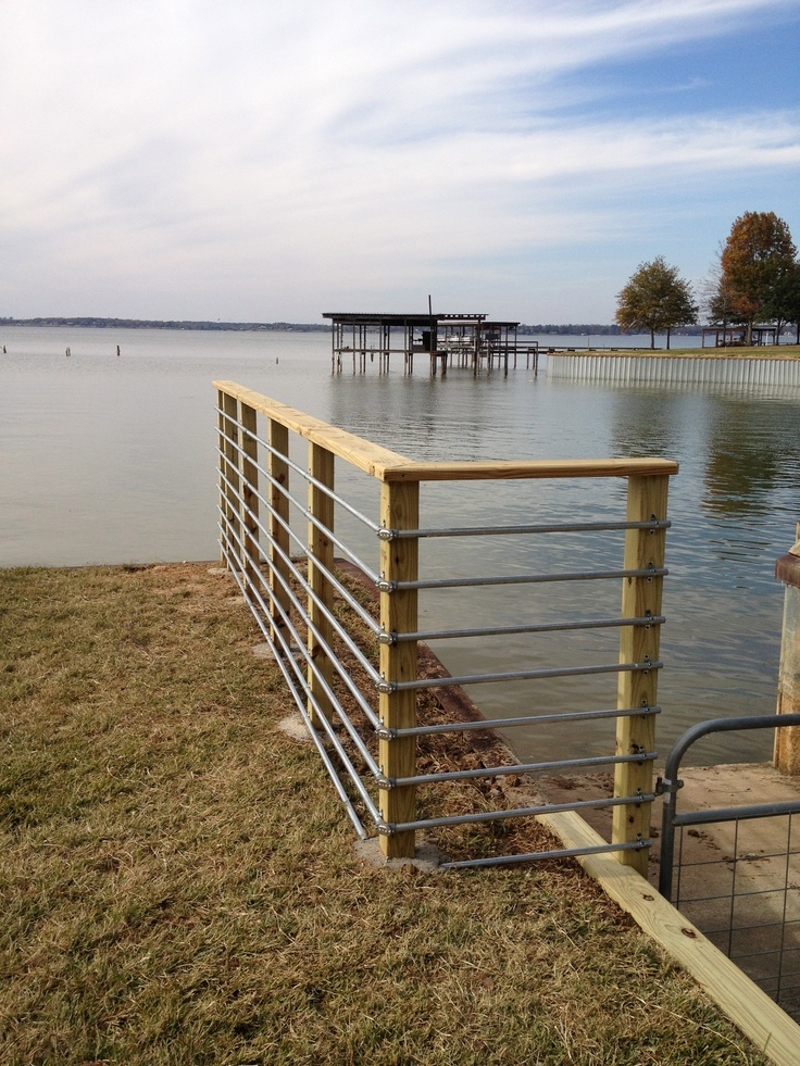 Conduit Railing For A Boat Ramp Cool Docks Amp Boat Houses