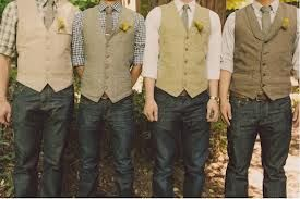 casual groom vests - if I was having an outside southern wedding, this would be perfect! :)