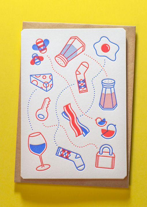 Jesse Mallon/The Hungry Workshop – Letterpress Valentine card – thehungryworkshop.com.au