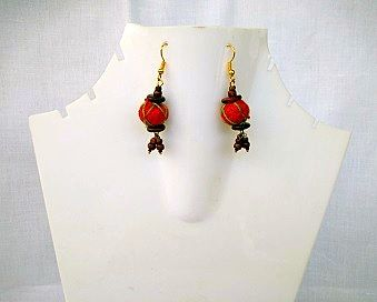 Red Color Earring