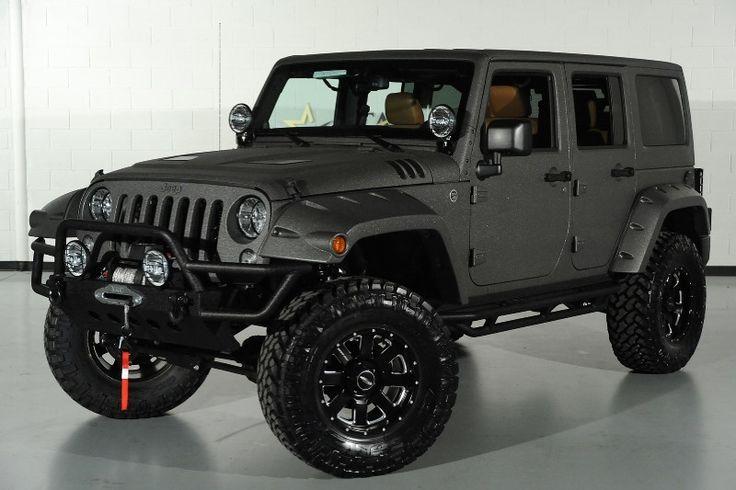 2014 Jeep Wrangler Unlimited In Bentley Granite Grey