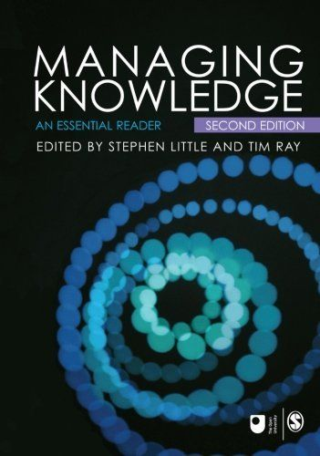 The new reader includes new and revised chapters as well as newly authored material, to provide students with a current resource that enables the study of knowledge management from a variety of perspectives. Theoretical work and engaging case studies place knowledge management in the context of an emerging global economy.