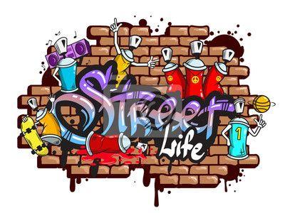 """Papier peint """"graffiti, art, rue - graffiti word characters composition"""" ✓ Un large choix de matériaux ✓ Impression écologique 100% ✓ Regardez des opinions de nos clients !"""