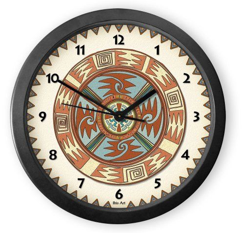 From our Southwestern Clocks category, Earth Colors Round Acrylic Wall Clock is inspired by traditional Native American pottery designs. Each clock is handcrafted in our Santa Fe, New Mexico studio. This clock has a second hand and makes a ticking sound. $34.50