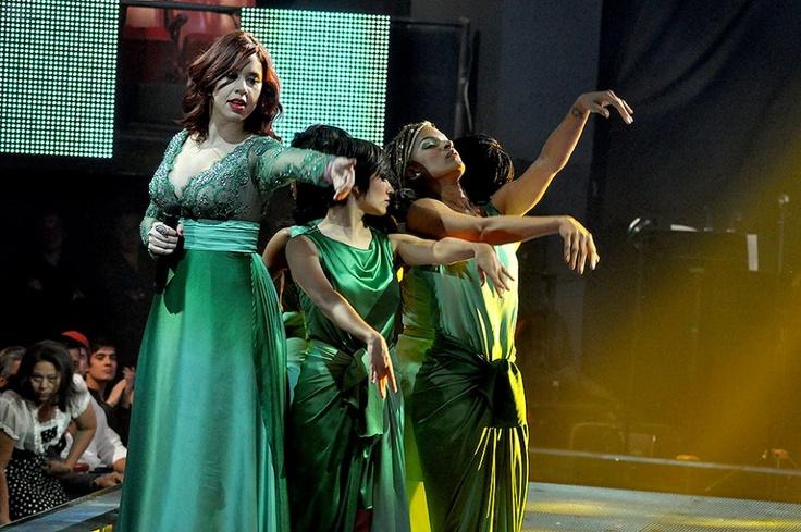 'Por ti Volaré' fue la canción que interpretó Giovanna Giacometto, quien hasta el último momento demostró su capacidad vocal.
