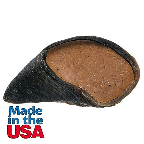 Dog Treats Hooves - Peanut Butter Flavor Natural Filled Cow Hooves Dog Dental Chew Treat 4 inches Length Made in USA >>> Click image to review more details. (This is an Amazon affiliate link)