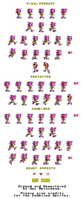 Amy rose sonic sprite sheets naked