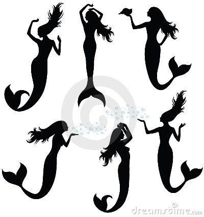 zeemeermin silhouet - Google zoeken