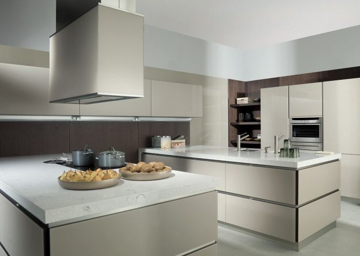 G926 Kitchen A unique design featuring 25mm thick doors on a veneered base with textured glass surfaces. Available in a range of colors and veneers in order to create stunning designs