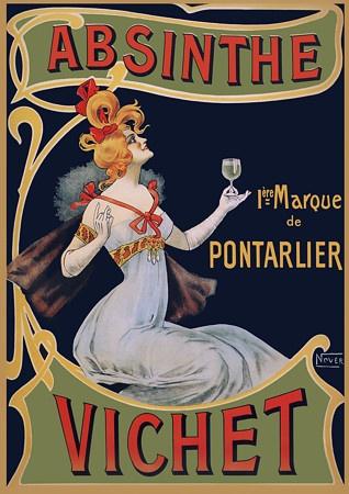Absinthe Vichet by Nover French Art Nouveau Vintage Poster
