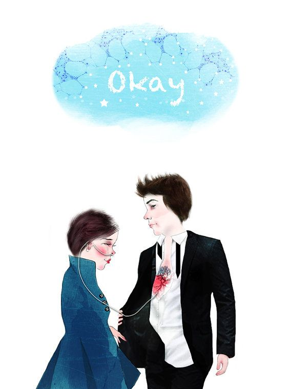 Maybe Okay  Will be Our  Always    This illustration is a homage for The Fault In Our Stars the Blockbuster movie based on novel by John Green.