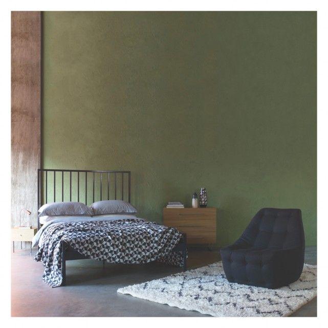 LUCIA Grey metal UK double bed 135cm | Buy now at Habitat UK