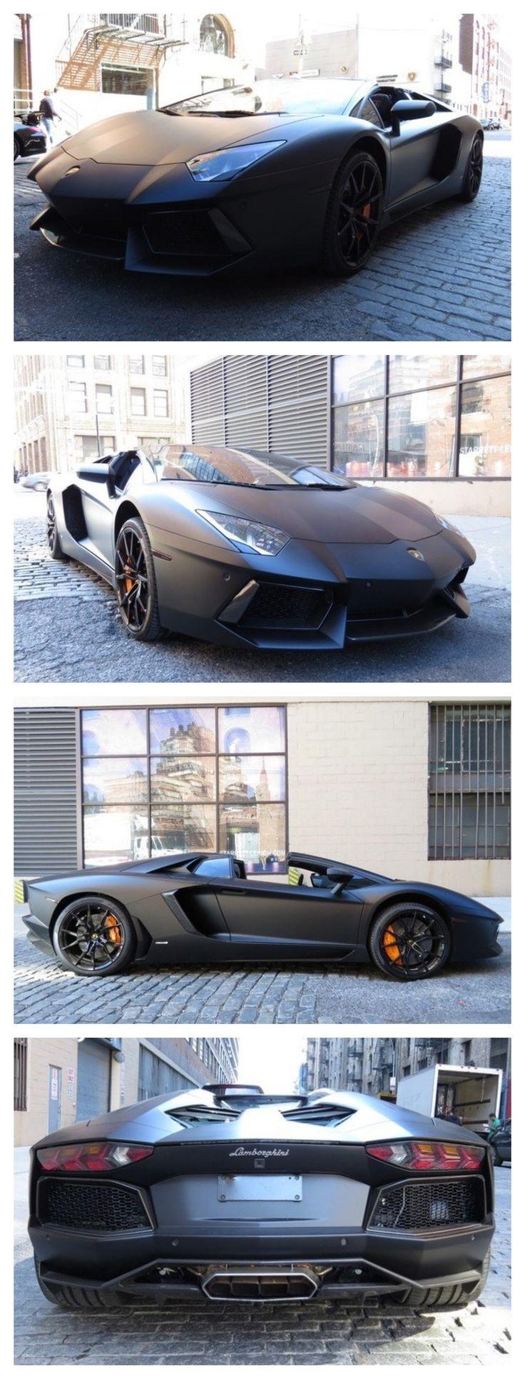 Meet the NEMESIS! Check out this badass #Lamborghini Aventador Roadster Nero Nemesis #SupercarSunday