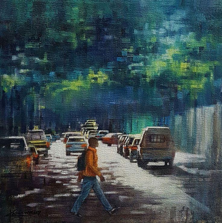 Karen Wykerd - Albertus Street   Original Art For Sale   StateoftheART