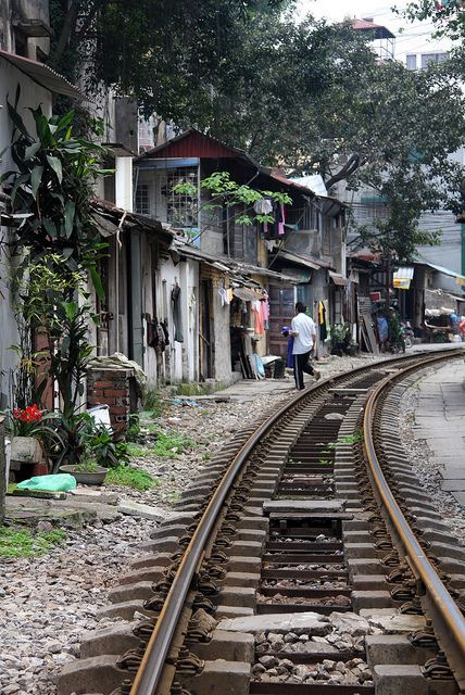 Train Tracks Hanoi, Vietnam http://www.flickr.com/photos/49994076@N04/5686501396/in/set-72157626614545834/