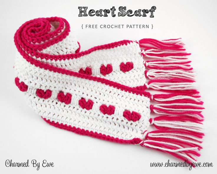 34 best crochet scarf glove patterns images on pinterest crochet free crochet pattern heart scarf by charmed by ewe dt1010fo