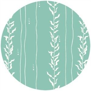 Jay-Cyn Designs for Birch Organic Fabrics, Beyond the Sea, KNIT, Kelp Pool