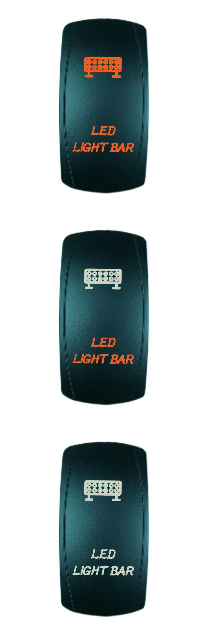 [Visit to Buy] High Quality 5 Pin Laser Backlit Orange Rocker Toggle Switch LED LIGHT BAR 20A 12V On/off LED Light Wholesa [KG-001-4] #Advertisement