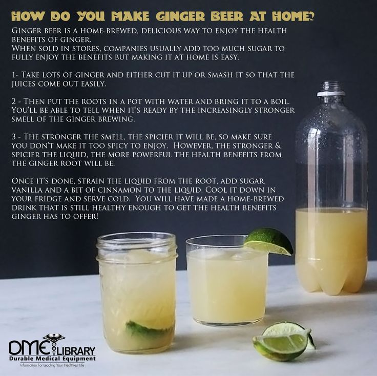 Ginger beer is a home-brewed, way to enjoy the health benefits of ginger.  When sold in stores companies usually add too much sugar to fully enjoy the benefits but making it at home is easy.