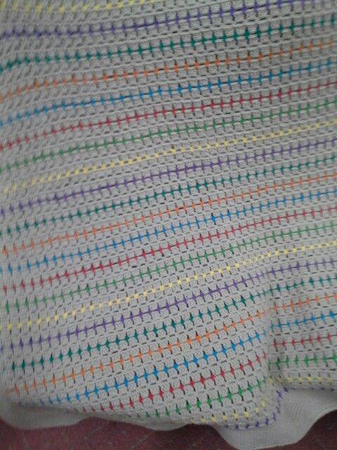 Baby blanket. Bendigo Woollen Mill cotton yarn